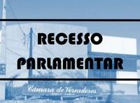 Aviso: Recesso Parlamentar